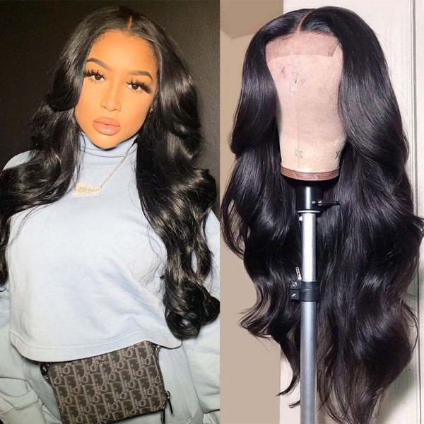 Body Wave 4*4 Lace Wigs Brazilian Human Hair Wigs Body Weave High Quality Wigs