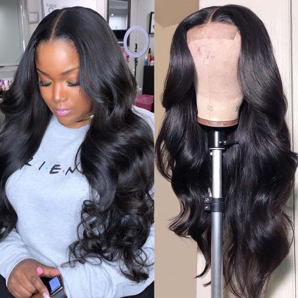Body Wave 360 Lace Frontal Wigs For Women Black African American Human Hair Wigs