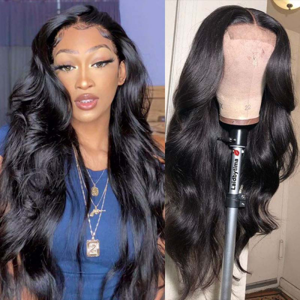 Body Wave 4*5 Silk Base Wigs Affordable Lace Front Wigs With Baby Hair Realistic Silk Top Wigs
