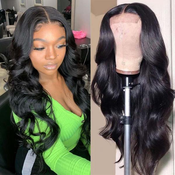 250% Density Body Wave 4*4 Lace Wigs Body Weave Human Hair Wigs For Black Women