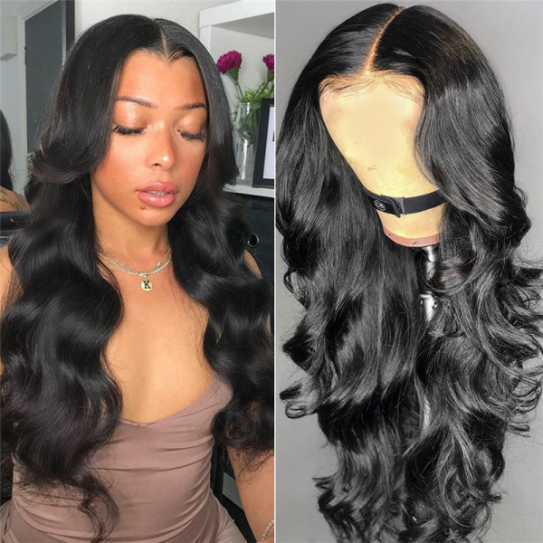 New Arrival 180% Density Full Lace Wigs Body Wave African American Human Hair Wigs