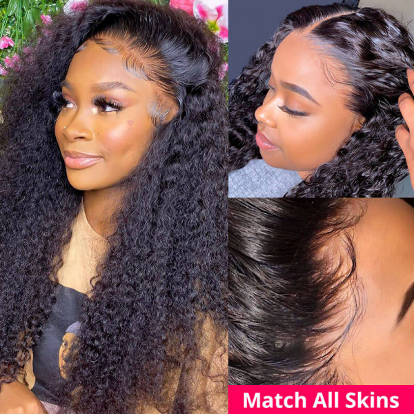 13x6 HD Lace Frontal Wig Curly Hair HD Swiss Lace Wigs