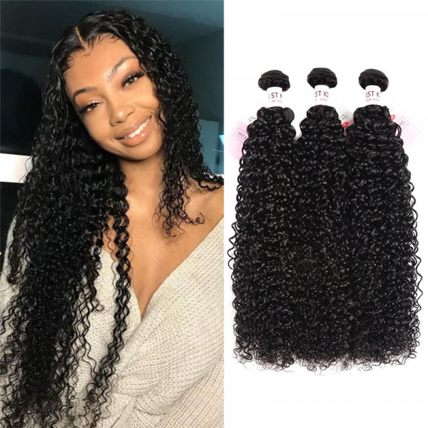 3PCS/Lot Brazilian Kinky Curly Hair Weaves Curly Wave Hair Bundles