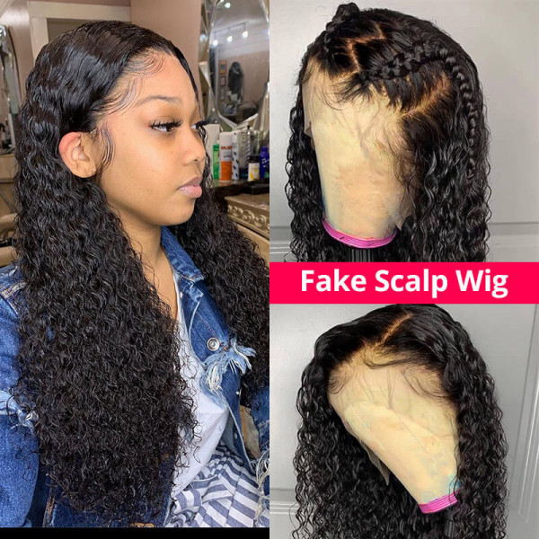 Curly Wigs Fake Scalp Wigs Cheap Human Hair Lace Front Wigs For Women