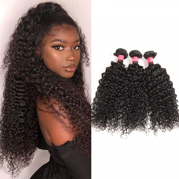 West Kiss Products 8A Grade Unprocessed 100% Malaysian Kinky Curly Human Hair 3 Bundles