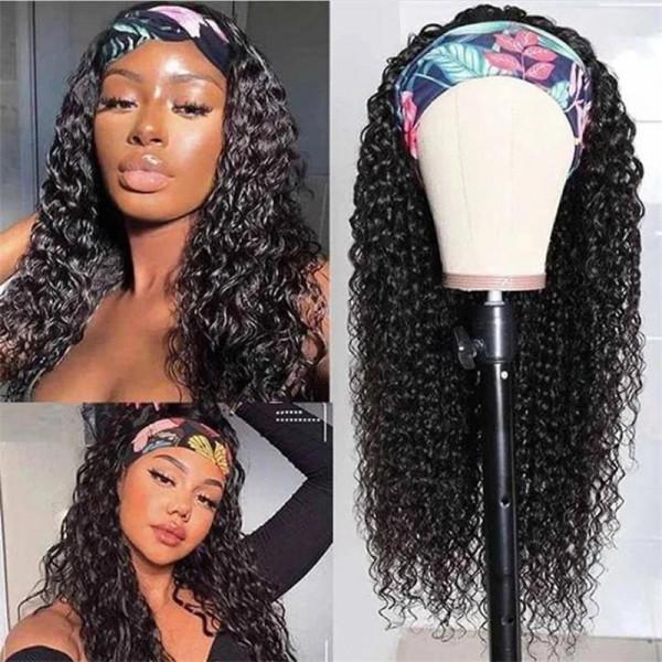 Half Head Band Wigs Glueless Virgin Hair Cheap Online