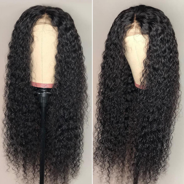 Curly Lace Wigs 250% Density Curly Hair Weave Cheap Human Hair 4x4 Lace Wigs
