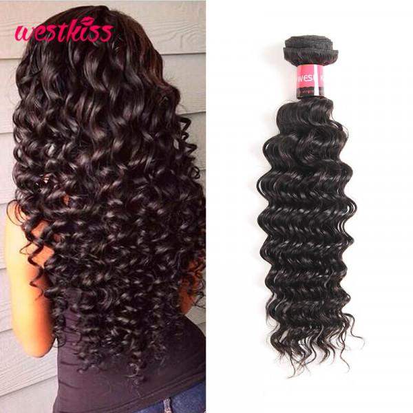 Brazilian Deep Wave Weave Virgin Human Hair 1 PC Only