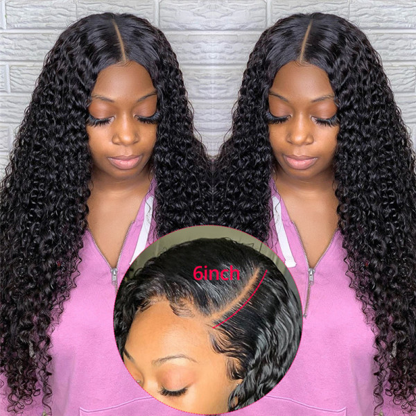 Deep Wave 13*6 Lace Front Wigs With Baby Hair Affordable Brazilian Lace Front Wigs For Black Women