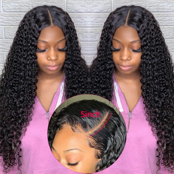 5x5 Affordable Brazilian Lace Closure Wigs Deep Weave Cheap Lace Front Wigs With Baby Hair