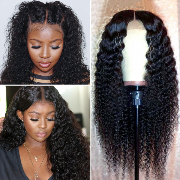 Deep Wave 4x4 Human Hair Lace Wigs Natural Looking Wigs Deep Weave Wholesale Wigs