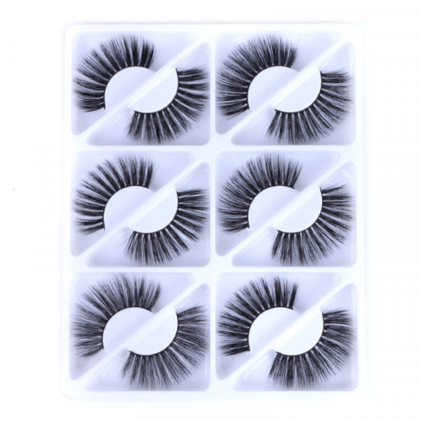 3D Mink Hair Eyelashes 25mm Thick Long Eye Lashes Natural False Eyelashes