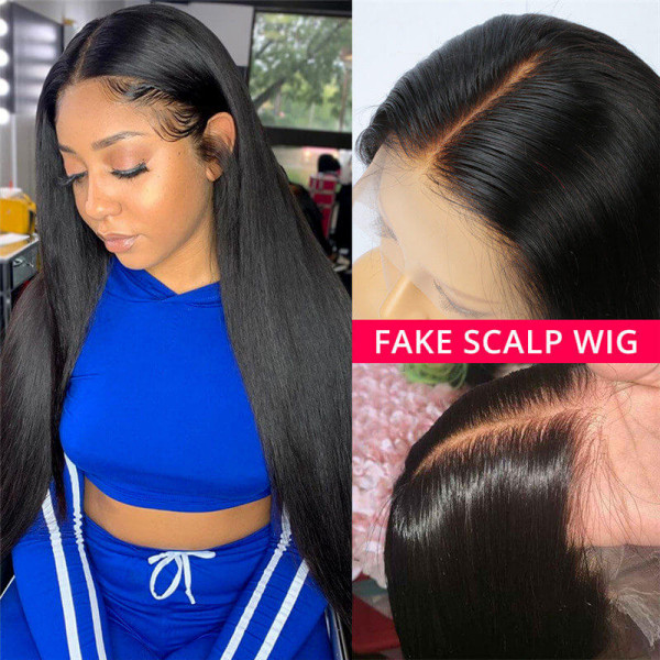 6*6 Closure Wigs Fake Scalp Wigs Straight Hair Body Wave Deep Wave Curly Hair Wigs