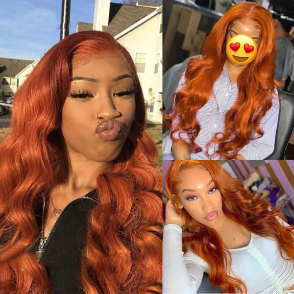 Body Wave Colored Wigs Real Human Hair Lace Front Wigs Ombre Wigs