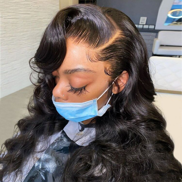 Skin Melt HD Lace Wigs Body Wave 13*6 Lace Front Wigs Real Hair Transparent Wigs