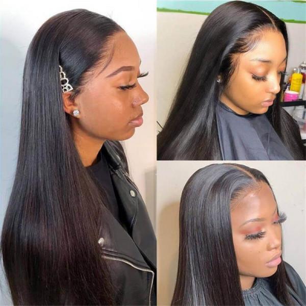 HD Wigs 6*6 Closure Wigs Transparent Body Wave Straight Invisible Wigs