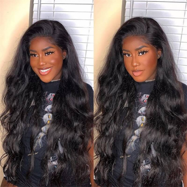 16-36 Inches Long Wigs Cheap Lace Front Wigs With Baby Hair Body Wave Real Human Hair Wigs