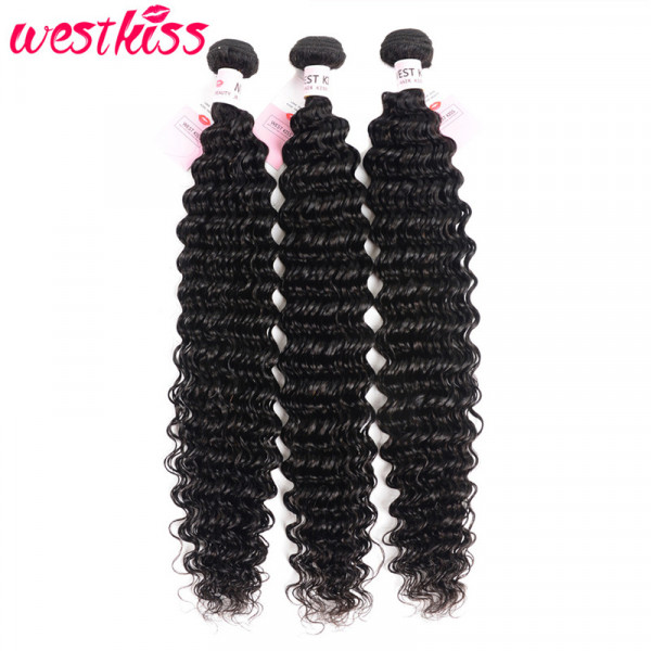 Long Weave 32-36 Inches Brazilian Hair Deep Wave Weave Hair 3 Bundles Deal Long Bundles