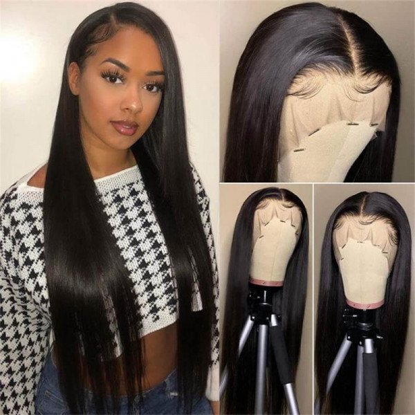 Long Human Hair Wigs 6*6 Closure Wigs Long Wigs Straight 40inch Wigs