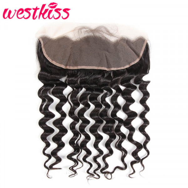 Lace Frontal Closure Peruvian Hair Sew in Loose Deep Wave 13*4 Frontal
