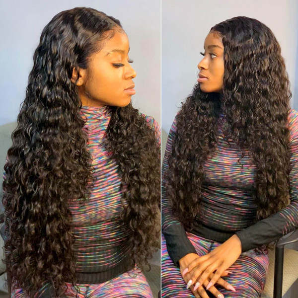 Loose Deep Wave Wigs 5*5 Closure Wigs Brazilian Lace Front Wigs For Sale