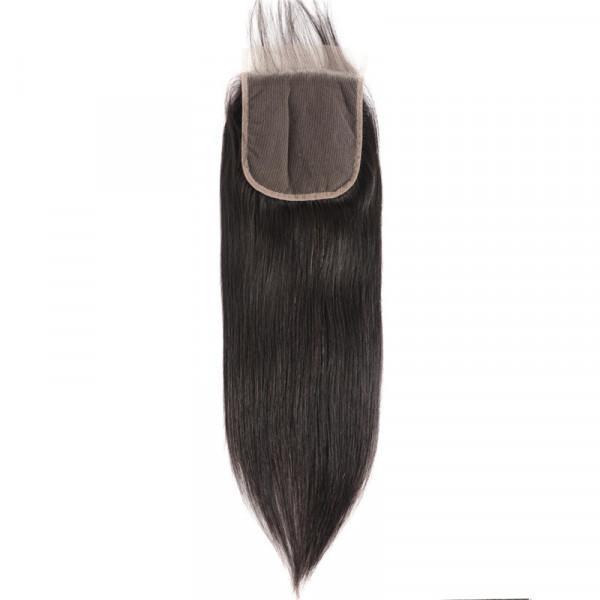 Brazilian Straight Hair 5*5 Lace Closure Free Part Unprocessed Human Hair