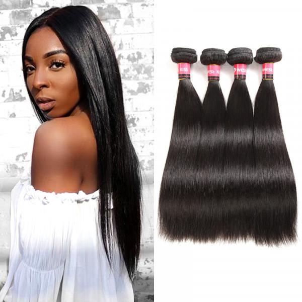 West Kiss Hair Company Human Hair Bundles Brazilian Virgin Hair Straight 4 Bundles