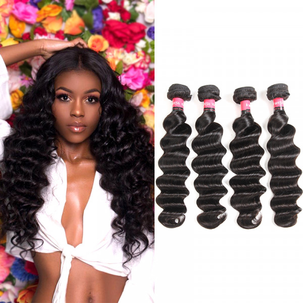 Brazilian Virgin Hair Loose Deep Wave Products 4pcs Bundles Wet And Wavy
