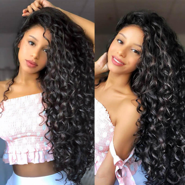 Natural Curly Wigs Human Hair Lace Front Wigs With Baby Hairline