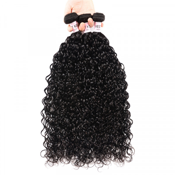 Brazilian Hair Natural Wave 3PCS/Lot Water Wave Wavy Hair Weaves