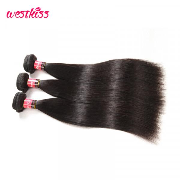 West Kiss Virgin Hair  8A Malaysian Virgin Hair Straight Hair Bundles 3Pcs