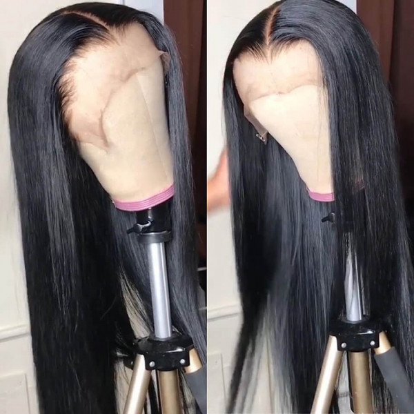 Straight Hair Wigs 250% Density Affordable Lace Front Wigs With Baby Hair