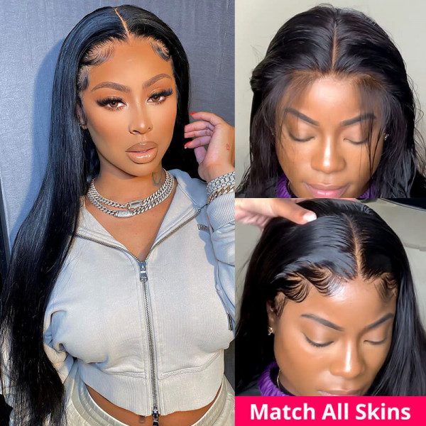 HD Lace Wigs Realistic Straight 13*6 Lace Front Wigs Transparent Lace Wigs