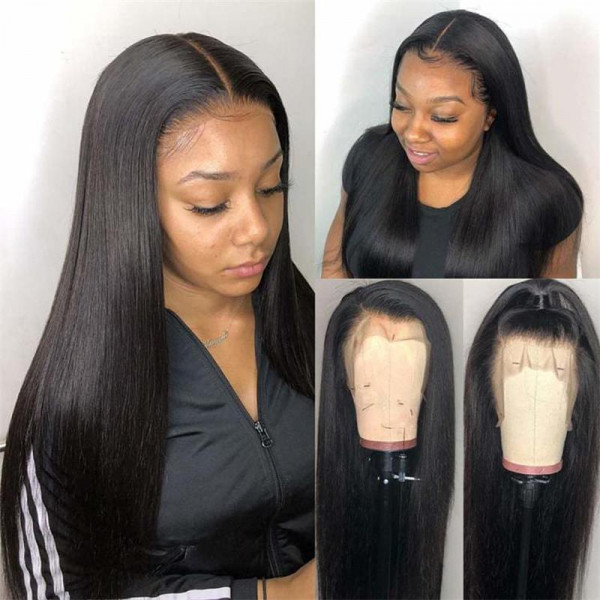 Straight Virgin Hair 250% Density 4x4 Lace Wigs Long Wigs Human Hair Lace Wigs