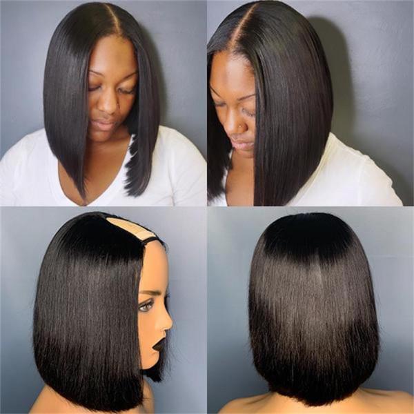 U Part Bob Wig Human Hair Bob Wigs Straight U Part Wig Bob Wigs