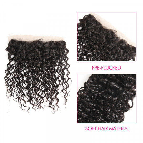 Brazilian Natural Wave Hair 13x4 Lace Frontal Brazilian Natural Curly Weave