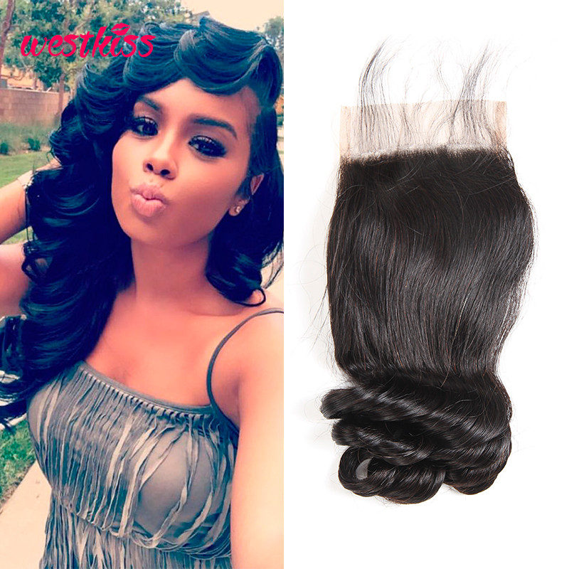 Peruvian Loose Wave Hair 4*4 Human Hair Closure Best Quality | West ...