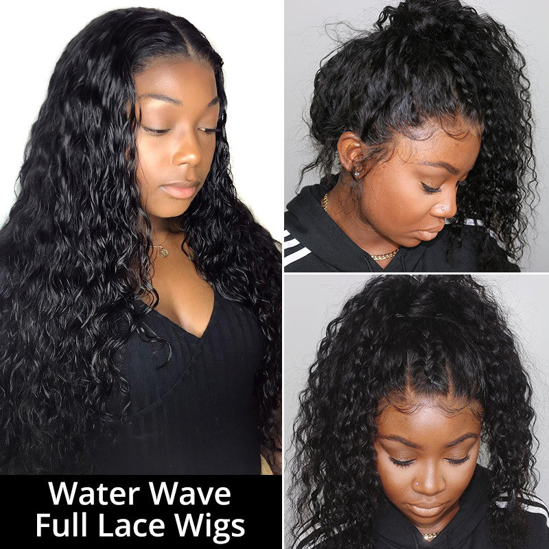 Water Wave Lace Wigs Full Lace Wigs 180%