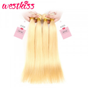 Human Hair Bundles Straight Brazilian Hair Honey Blonde Brazilian Hair Weave 4 Bundles