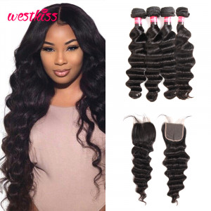 Brazilian Loose Deep Wave 4 Bundles