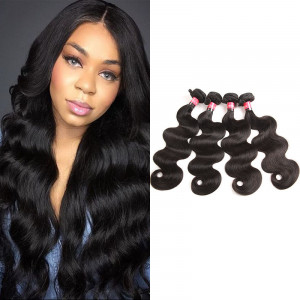 Peruvian Virgin Hair Body wave 4 Bundles