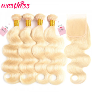 Blonde Hair Bundles With Closure