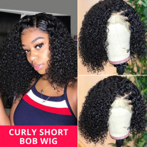 Curly Hair Short Wigs