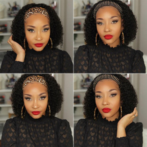 Curly Hair Headband Wigs