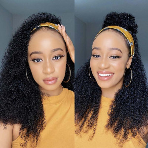Kinky Curly Headband Wigs