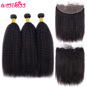 Kinky Straight Human Hair Bundles