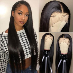 Long Human Hair Wigs 6*6 Closure Wigs Long Wigs Straight 40inch Wigs
