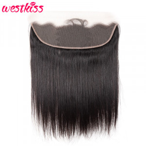 West Kiss Brazilian Hair Straight Hair Frontal 13*4 Cheap Lace Frontals And Closures