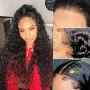 13*6 Frontal Wigs Water Wave