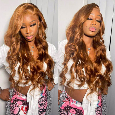 Brown Wig Colored Wigs Straight Hair Body Wave Brown Lace Front Wigs